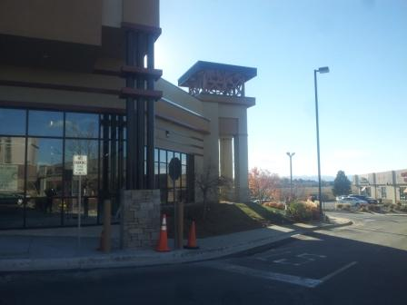 Commercial Painters at Strip Mall